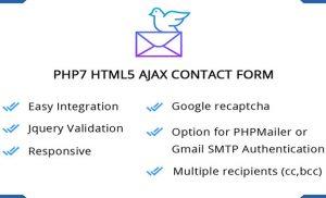 Mã nguồn trang gửi mail bằng PHP7 + HTML5 + Ajax