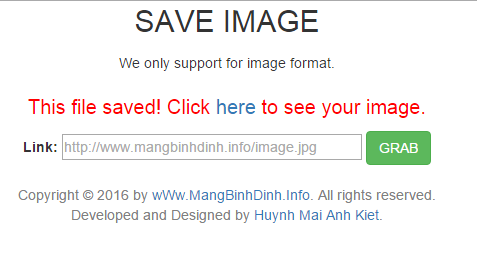 Save image from url directly on your server